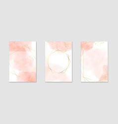 collection abstract dusty pink liquid vector image