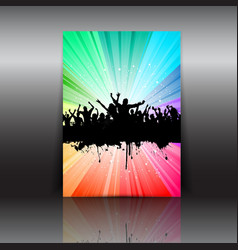 crowd flyer layout vector image vector image
