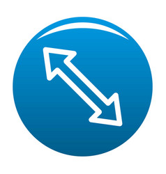 Cursor increase element icon blue vector
