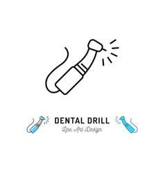 dental drill icon instruments care vector image