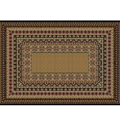 Design classic carpet with various patterns vector