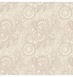 Digital drawing ornate seamless flower paisley vector
