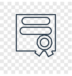 diploma concept linear icon isolated on vector image