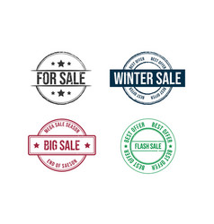 discount sale grunge rubber stamp set grunge sale vector image