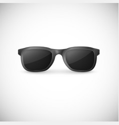 Elegant black sunglasses isolated on white vector