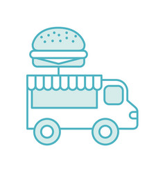 Fast food shop car vector