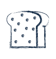Figure delicious slice bread bakery food vector