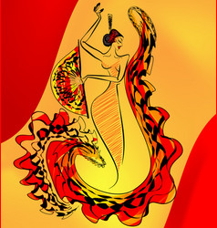 figure of flamenco dance vector image