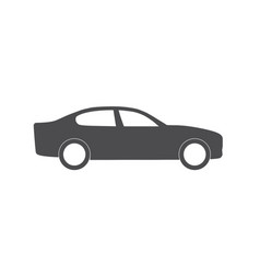 flat icon car for web business finance and vector image