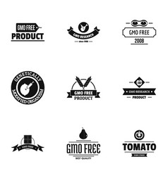 Food free logo set simple style vector