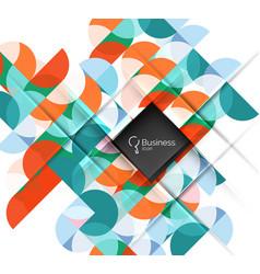 geometric shape on white vector image