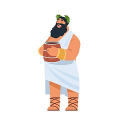 god dionysus ancient greek deity divine patron vector image