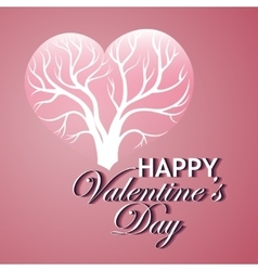 Happy Valentines Day Card with tree of love vector image
