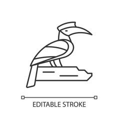 Hornbill linear icon vector