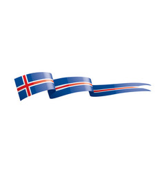 Iceland flag on a white vector