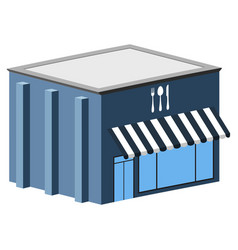 isolated restaurant building vector image