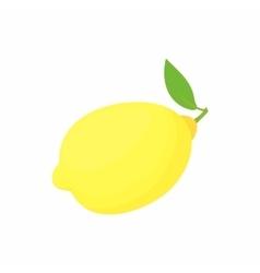 Lemon icon in cartoon style vector image