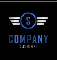 letter s automotive creative business logo vector image