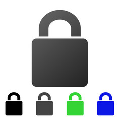 Lock flat gradient icon vector