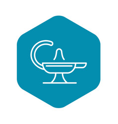 Magic lamp icon outline style vector