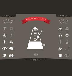 Metronome icon symbol vector
