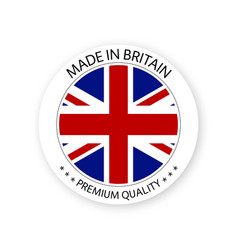 Modern made in britain label british sticker vector