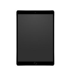 New black tablet concept with camera and home vector