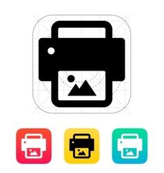 Photo print icon vector image