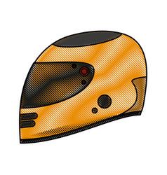pilot race helmet vector image