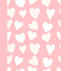 pink watercolor heart pattern vector image
