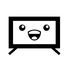 Plasma tv kawaii character vector
