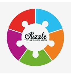 Puzzle pieces and big ideas vector