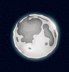 realistic beautiful night moon globe vector image