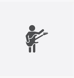 rock guitarist icon vector image
