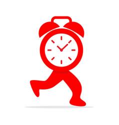 running time logo vector image