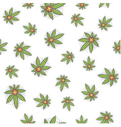 Seamless texture medical marijuana five vector