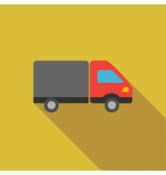 Shipment Flat Long Shadow Square Icon vector image