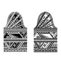 sleeve size maori style tattoo vector image