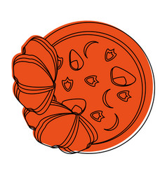 Soup food icon image vector