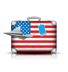 Suitcase vector image