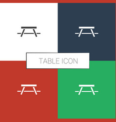 Table icon white background vector
