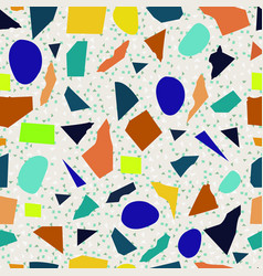 terrazzo seamless pattern colorful patterned vector image