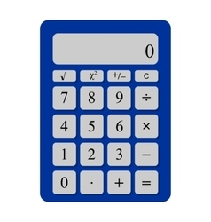 Universal calculator with the gray buttons vector