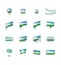 uzbekistan flag on a white vector image