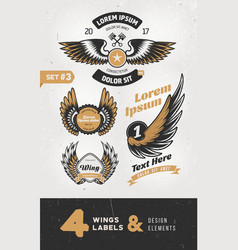 vintage labels badges text and design elements vector image