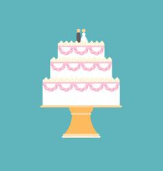 Wedding cake on stand vector