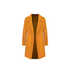 woman brown coat vector image