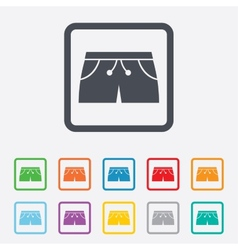 Womens sport shorts sign icon Clothing symbol vector image