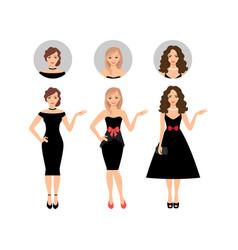 beauty women set vector image vector image