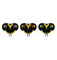 black yellow snake vector image
